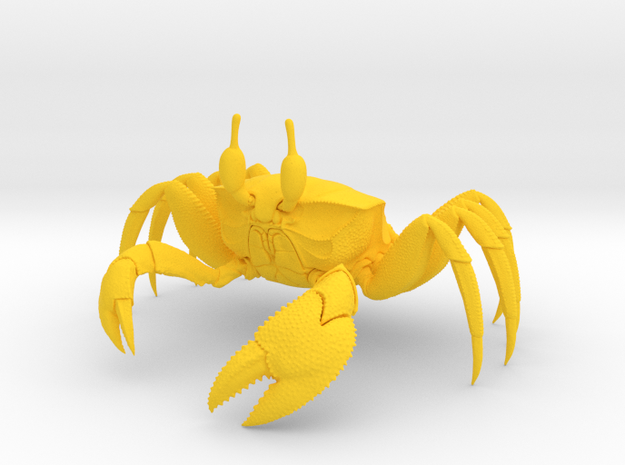 Ghost Crab in Yellow Processed Versatile Plastic
