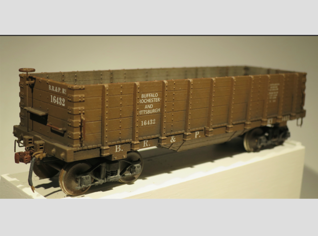 Hopper Buffalo Rochester & Pittsburg S Scale 1/64  in Frosted Ultra Detail