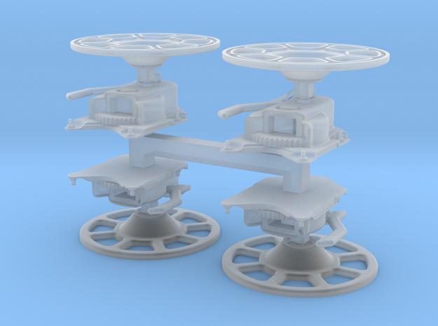 Brake Wheel with Sprue - Set of 4 in Smooth Fine Detail Plastic