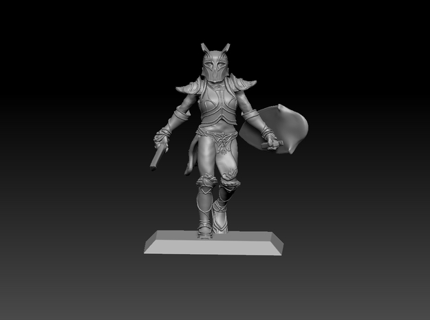 Elf Warrior 35mm Nº1 in Smooth Fine Detail Plastic