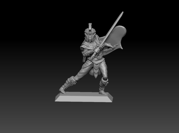 Elf Warrior 35mm Nº2 in Smooth Fine Detail Plastic