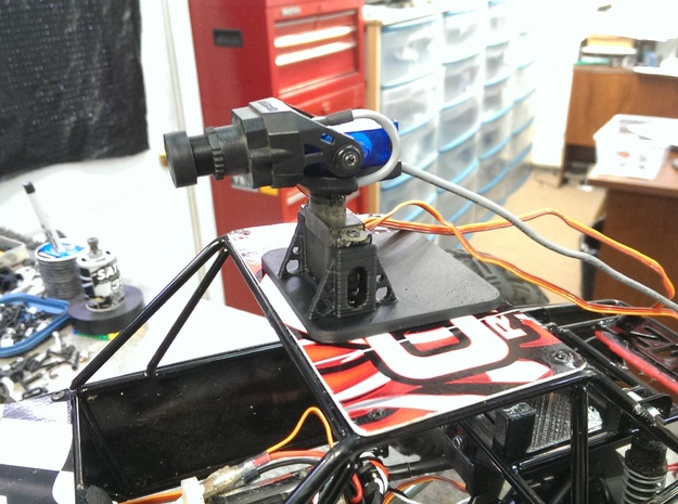 FPV Servo Pod Magnet Mounted in Black Strong & Flexible