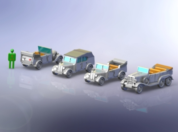German Mercedes Staff-Cars G4 and 170VK 1/200
