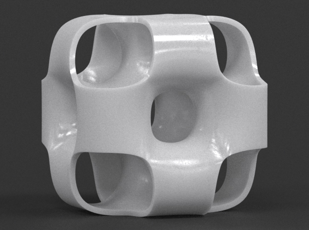 Ported Cube in White Strong & Flexible Polished