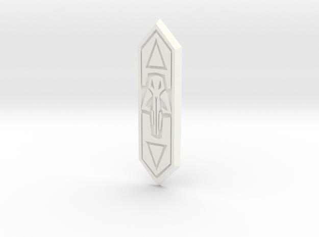 Digital Skull Chest Diamond in White Processed Versatile Plastic