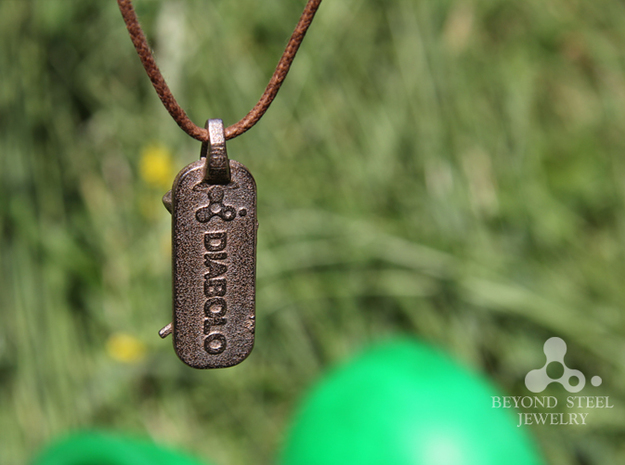 Diabolo Pendant 3d printed Stainless Steel Finish