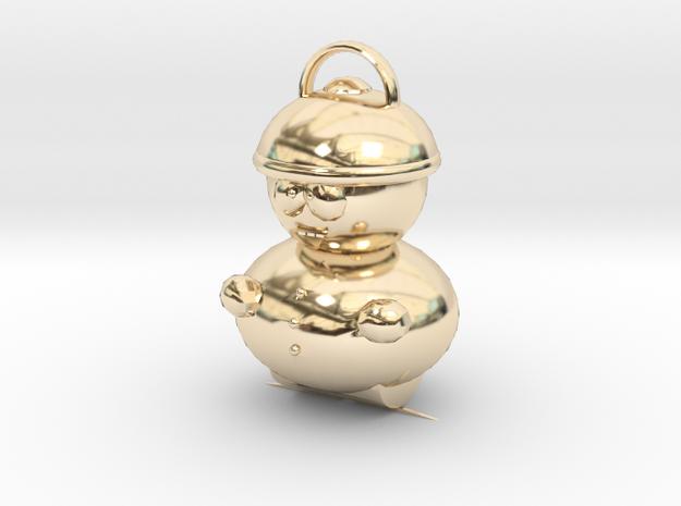 Cartman Pendant in 14K Yellow Gold