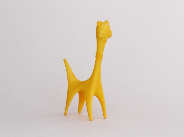 Long Neck Creature in Yellow Processed Versatile Plastic