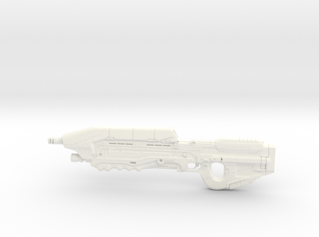 Halo 5 Assault rifle 1/6 Scale in White Processed Versatile Plastic