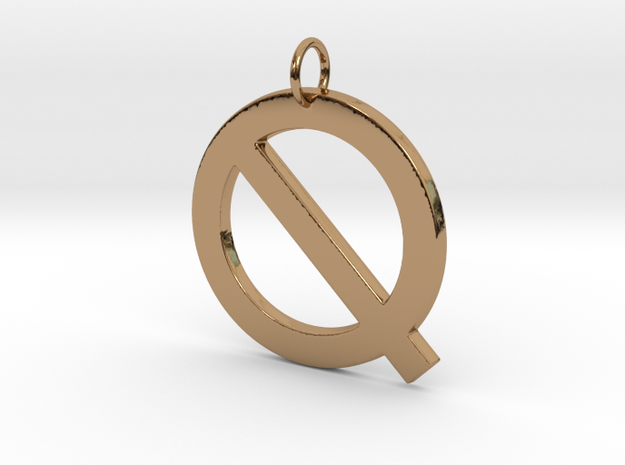 Q in Polished Brass