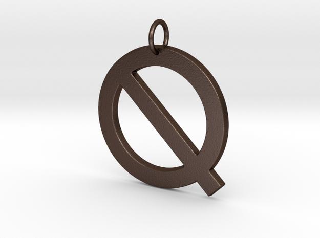 Q in Matte Bronze Steel
