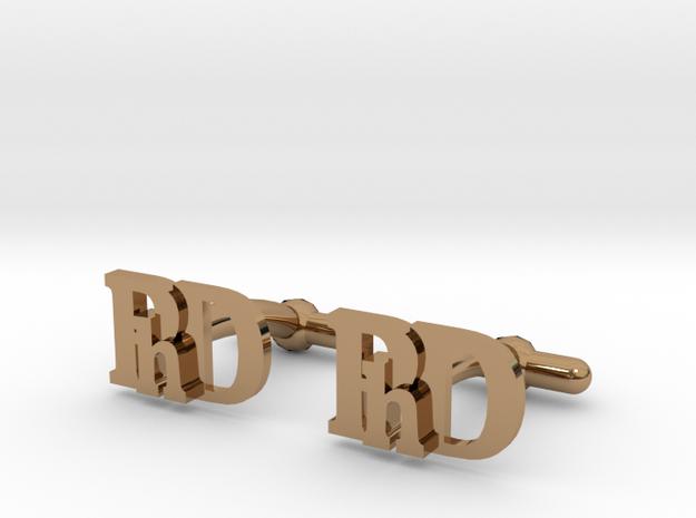 PhD Cufflinks in Polished Brass