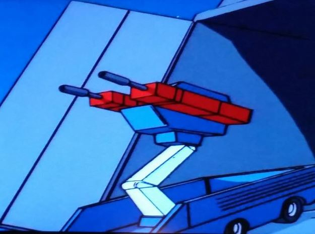 First Roller in Transformers Cartoon Series in White Processed Versatile Plastic