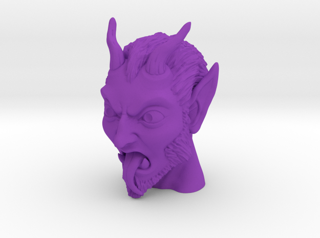 Krampus the Christmas Demon in Purple Processed Versatile Plastic