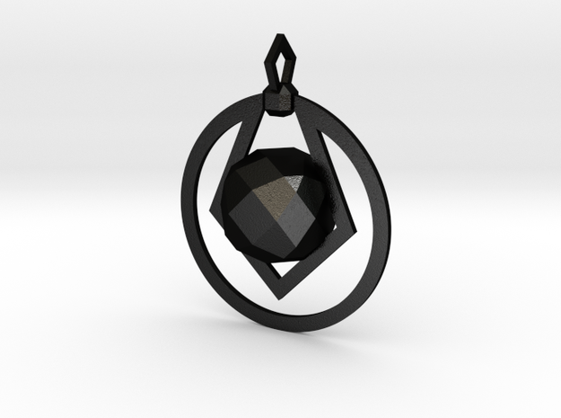CODE: PWR02 - PENDANT in Matte Black Steel