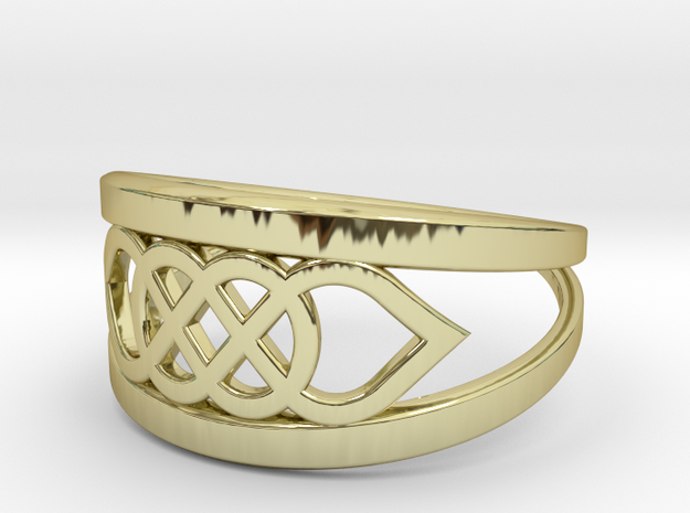 Size 7 Knot C6 in 18k Gold Plated Brass