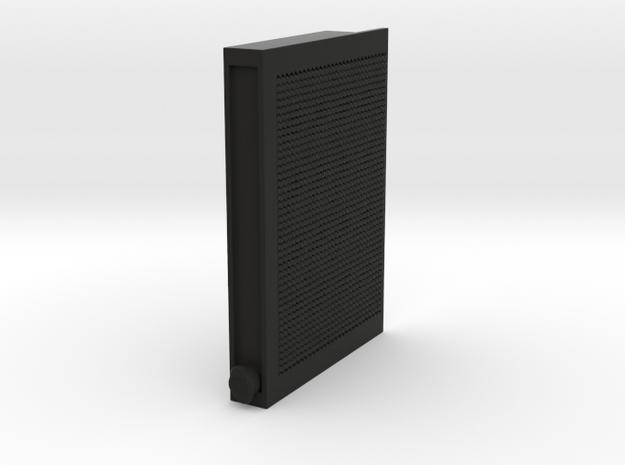 Servo cover Radiator in Black Natural Versatile Plastic