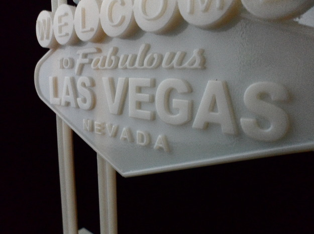 Las Vegas Sign 3d printed