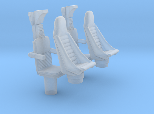 YT1300 BANDAY 1/144 COCKPIT SEATS in Smooth Fine Detail Plastic