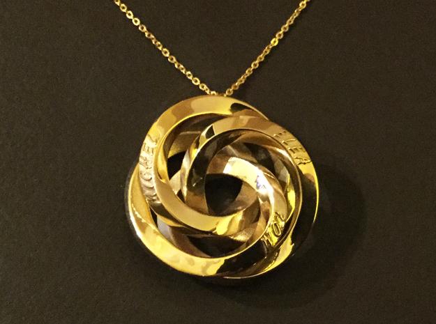 Infinite Harmony Pendant in 14k Gold Plated