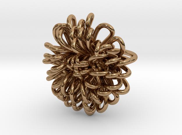 Ring 'Wiener Blume', Size 6.5 (Ø 16.9 mm) in Polished Brass