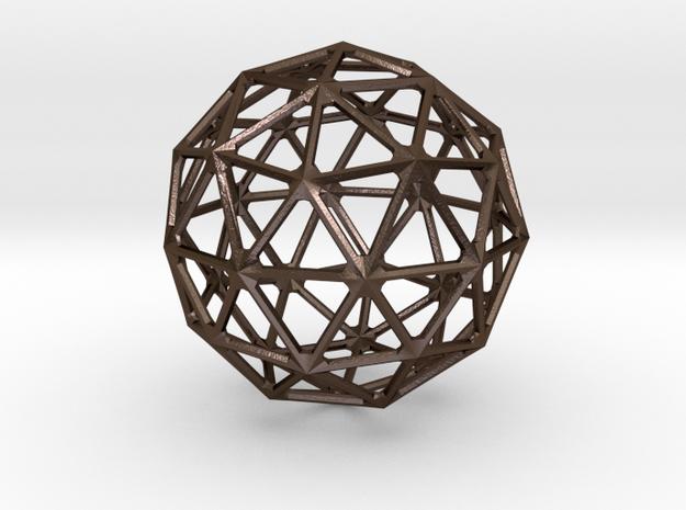 Icosahedronal Pendant in Polished Bronze Steel