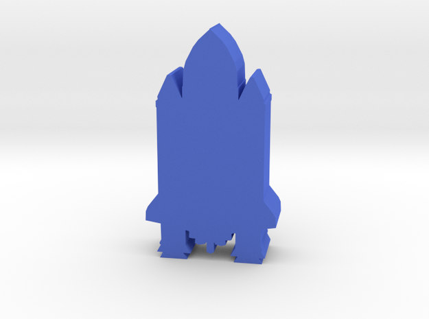 Game Piece, Space Shuttle in Blue Processed Versatile Plastic