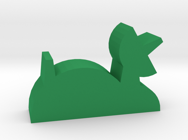Game Piece, Base, Colony in Green Processed Versatile Plastic