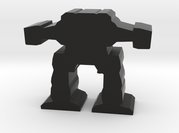Game Piece, Light Advanced Mech in Black Natural Versatile Plastic