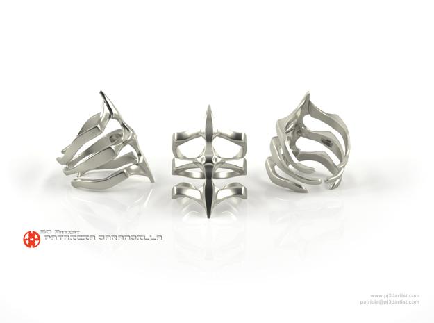 Ring Two Spikes 7 - Elegant modern adjustable