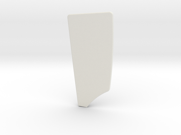 6 inch Starboard Rowing Blade in White Natural Versatile Plastic