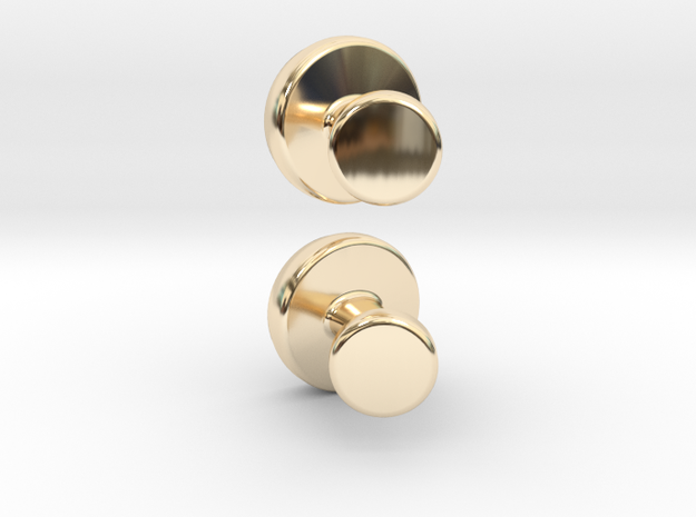Cuff-link - Gem/Bead Settable in 14K Gold