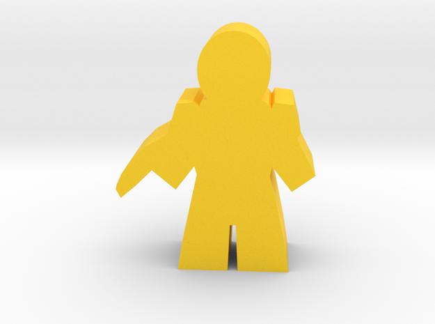 Game Piece, Core Union Commander, pistol in Yellow Processed Versatile Plastic