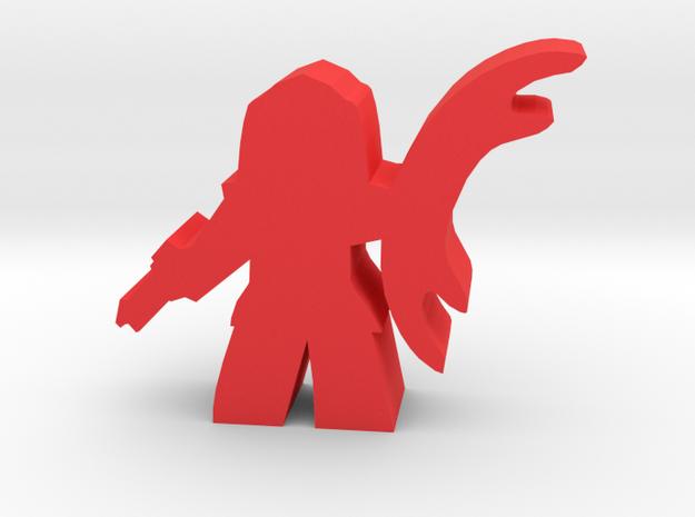 Game Piece, Warrior Empire Soldier, sword in Red Processed Versatile Plastic