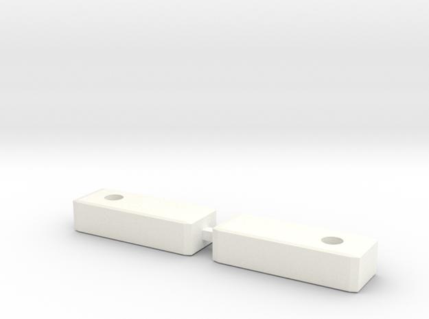 Yin-yang-Bolzen-L+R (Part 4) in White Processed Versatile Plastic
