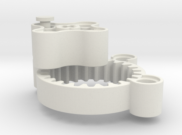 Planet gearbox 4:1 in White Natural Versatile Plastic