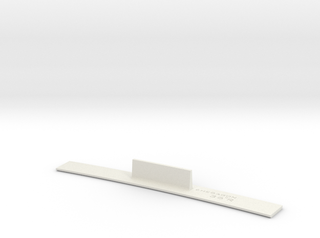 ME83-36R Curve Template HO Scale in White Natural Versatile Plastic