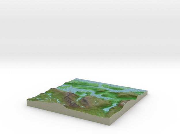 Terrafab generated model Thu Oct 29 2015 23:03:35  in Full Color Sandstone