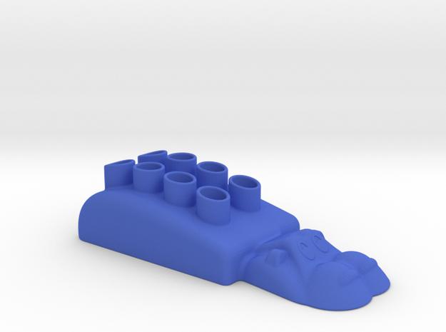 Hippopotamus-3 Pencil Case in Blue Processed Versatile Plastic