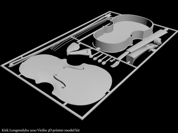 Violin 3D Model 6 inch 3d printed Violin Model Kit