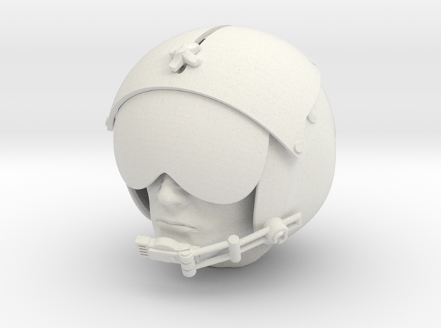 1/4 Scale pilot head figure rc model helicopter 3d printed