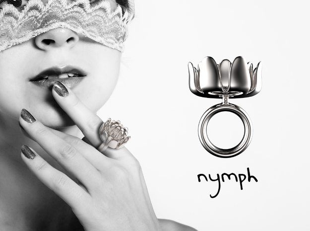 Nymph ring in Polished Silver