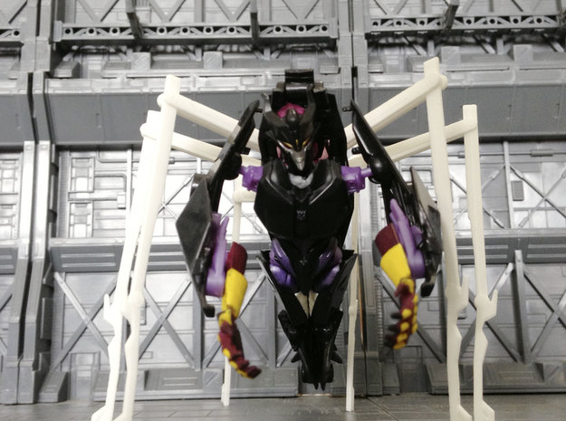 TF: Prime Queen set for deluxe Airachnid in White Natural Versatile Plastic