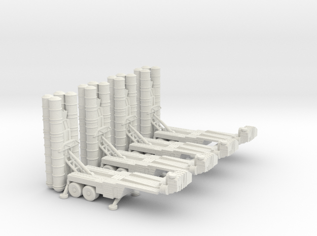 S-400 Missile Section 6mm Low Res in White Natural Versatile Plastic