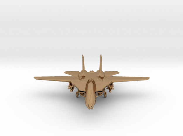 F14 grumman Jet in Polished Brass