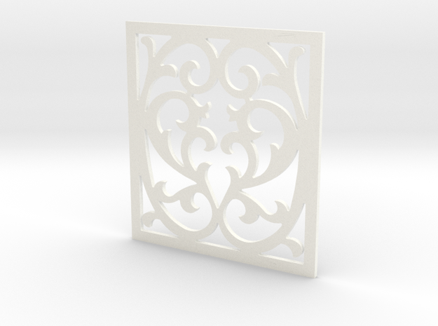 Victorian Panel-15 in White Strong & Flexible Polished
