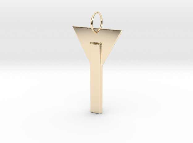 Simplicity - Edge in 14k Gold Plated Brass