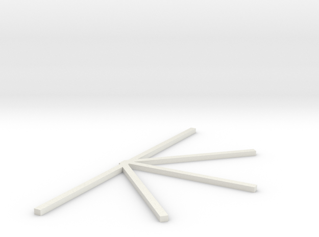 Wacky Worm Left side track supports spreadder bar  in White Natural Versatile Plastic