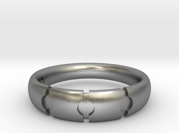 Enigmatic ring_Size 11 in Natural Silver