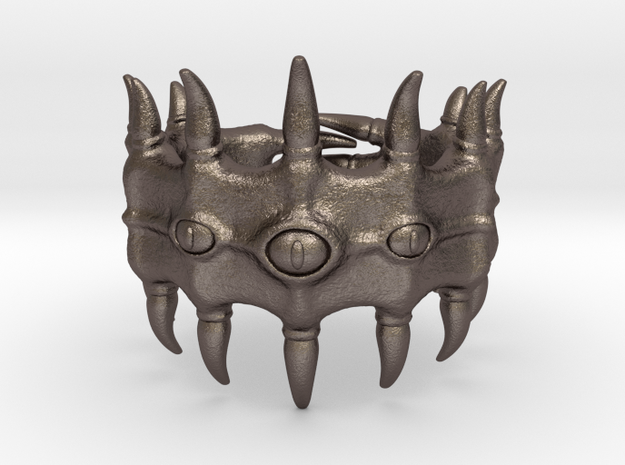 Devourer of Fingers in Polished Bronzed Silver Steel